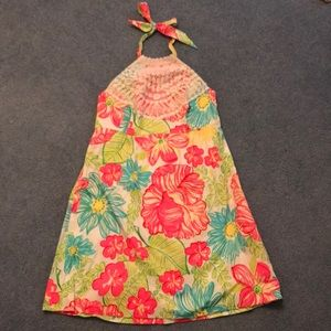 Lilly Pulitzer neon halter top dress